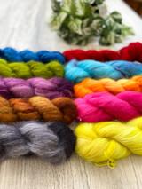 Mohair kid silk rainbow