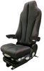 GraMag Black/Red Stitch Syn Leather Premium Seat