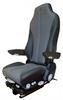 GraMag Black Grey Syn Leather Premium Seat