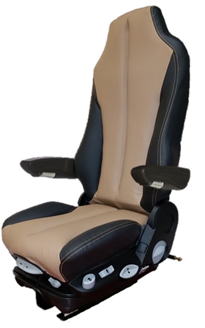 Semi Truck Seats >> Gramag Tan Black Syn Leather Select Seat Premier Truck Seats And