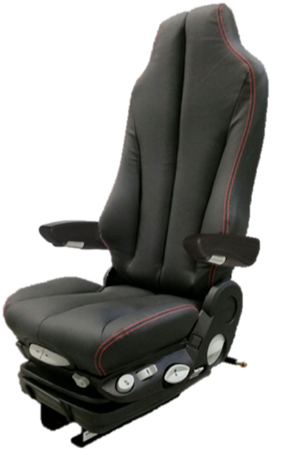 GraMag Black/Red Stitch Syn Leather Premium Seat