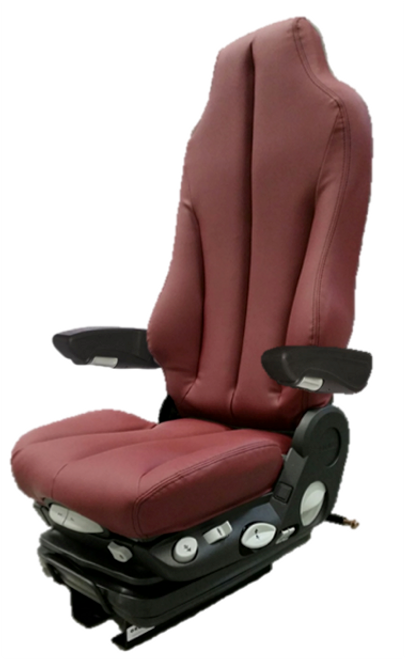 GraMag Burgundy Syn Leather Premium Seat