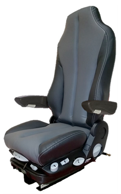 GraMag Black Grey Syn Leather Premium Seat
