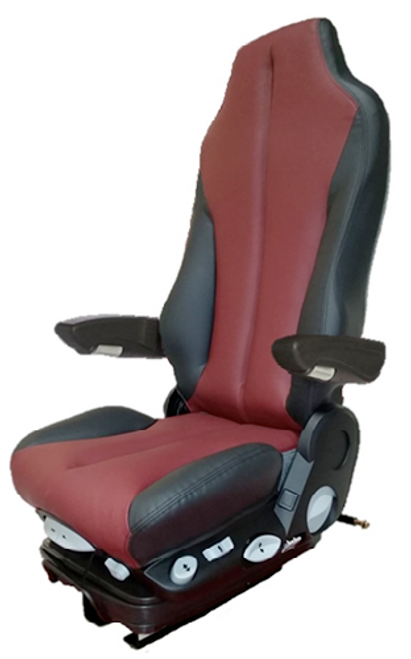 GraMag Burgundy Black Syn Leather Premium Seat