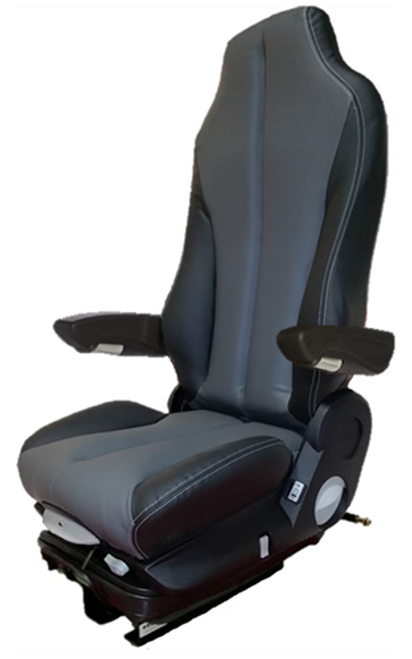 GraMag Black Grey Syn Leather Standard Seat