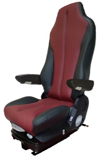 GraMag Burgundy Black Syn Leather Standard Seat