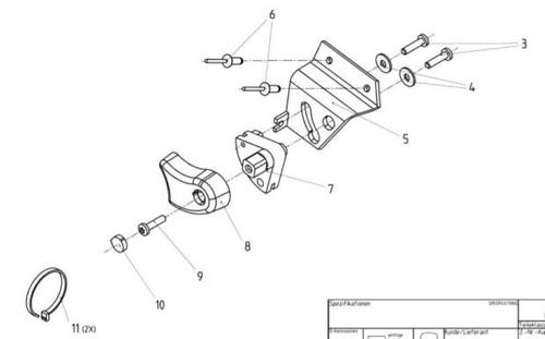 Fore and Aft Isolator Handle Service Kit AFT-11885