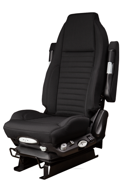GraMag Black Tough Cloth with Black Stitching Aftermarket Seat