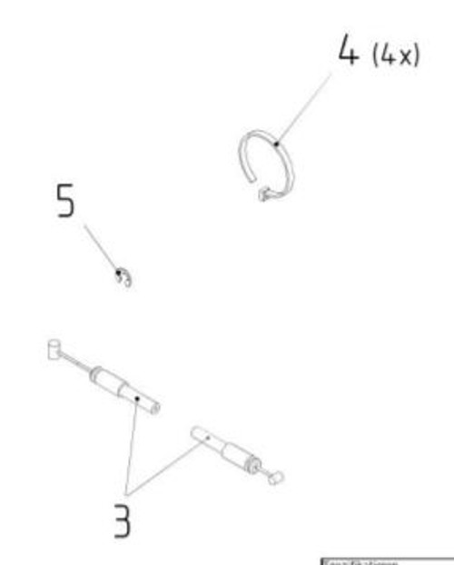 Fore and Aft Isolator Cable Service Kit AFT-11884