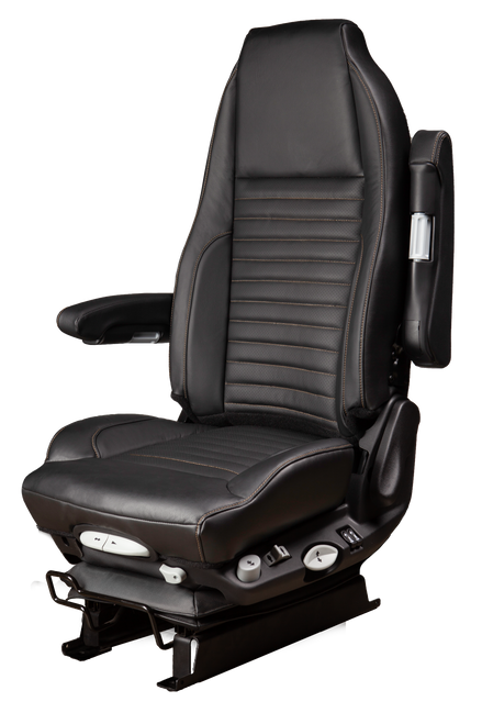 GraMag Genuine Black Leather with Tan Stitching Aftermarket Seat