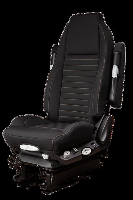 GraMag Black Tough Cloth with Tan Stitching Aftermarket Seat