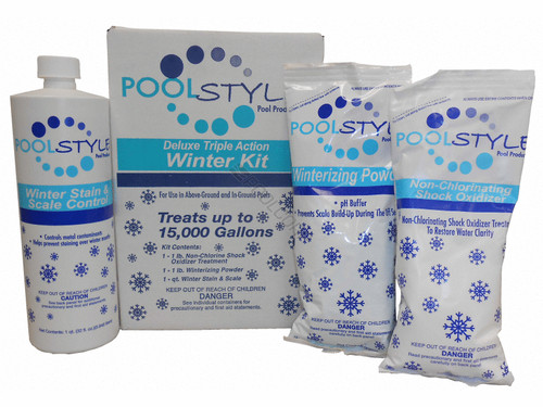 Poolstyle Deluxe Triple Action Winter Kit 15K Gallon, 33845P (PSL-50-0015)