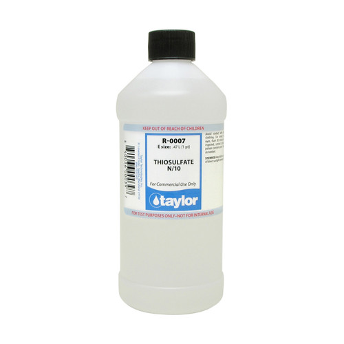 Taylor Thiosulfate Reagent #7 N/10 - 16 Oz. Bottle (R-0007-E)