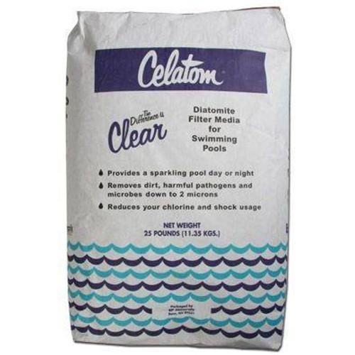 Celatom Diatomaceous Earth Swimming Pool and Spa Filter Media Powder (25lbs.) (SP25)
