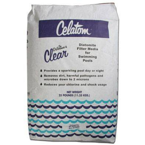 Celatom Diatomaceous Earth Swimming Pool and Spa Filter Media Powder (25lbs.) (SP25)
