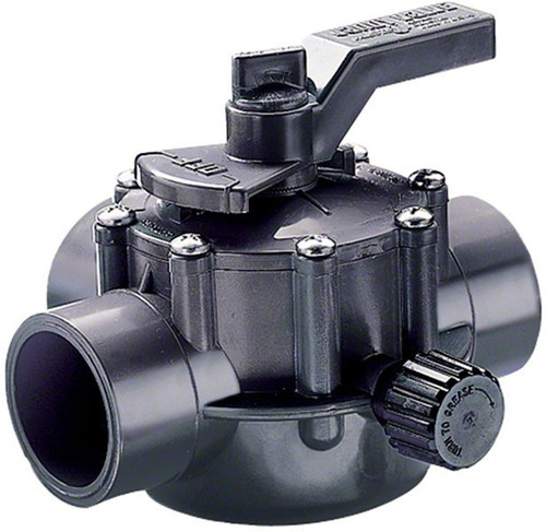 "Jandy 2""-2.5"" 2-Port CPVC Gray Valve, 2876 (JDY-56-4049)"