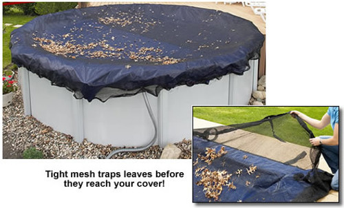 """GLI 24"""" Round Above Ground Leaf Net Pool Cover (45-0024RD-LNT)"""