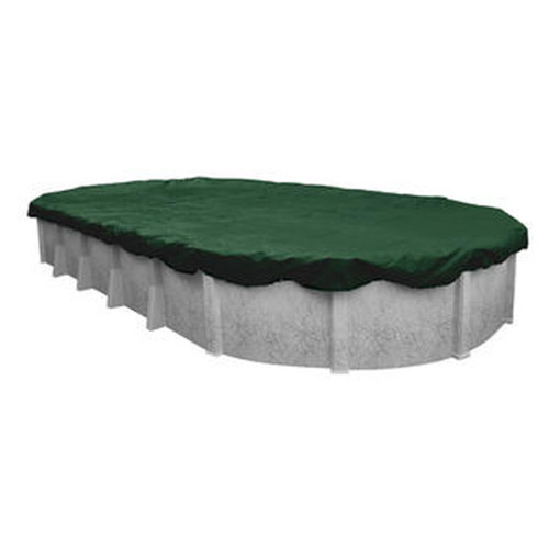 Swimline 18' X 34' Oval Ripstopper Above Ground Pool Cover w/ 4' Overlap (RIG1834)