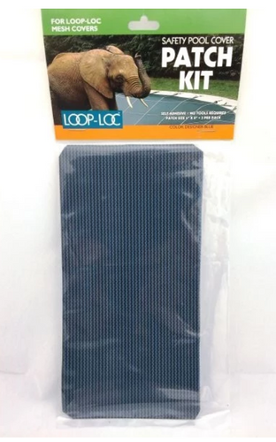 """Loop-Loc 4"""" x 8"""" Safety Pool Cover Patch Kit for Gray Mesh Covers Pack of 3, LLMPKB"""