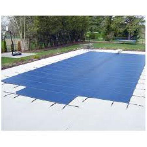GLI ProMesh 16' X 32' 4X6 Ctr. (Rect.) Blue Inground Safety Cover (20-1632RE-CES46-PRM-BLU)