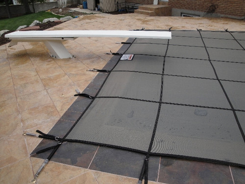 GLI ProMesh 16' X 32' 4X8 Rt. 1'Off (Rect.) Gray Inground Safety Cover (20-1632RE-RHS481-PRM-GRY)
