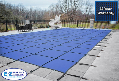 GLI Secur-A-Pool Mesh 14' X 28 (Rect.) Blue Inground Safety Cover (20-1428RE-SAP-BLU)
