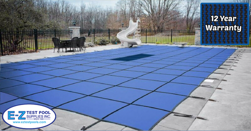 GLI Secur-A-Pool Mesh 16' X 32' 4X8 Ctr. (Rect.) Blue Inground Safety Cover (20-1632RE-CES48-SAP-BLU)