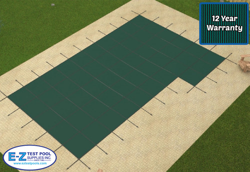 Secur-A-Pool Mesh 20' X 40' 4X8 Rt. 1'Off (Rect.) Green Inground Safety Cover (20-2040RE-RHS481-SAP-GRN)