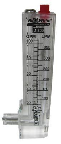 Blue-White F300 Flowmeter 1.5in. 20 to 100 gpm Downward flow (D31050P)