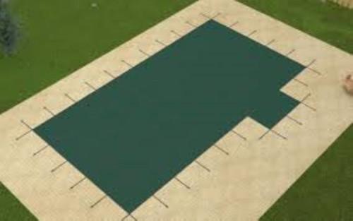Meyco MeyLite 16' X 32' 4X8 Rt. (Rect.) Green Safety Pool Cover (MEYRH16)