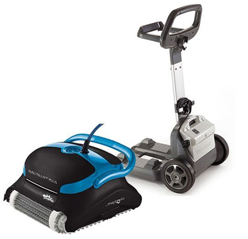 Dolphin Nautilus CC Plus Robotic Pool Cleaner with Pro Caddy MAY-20-9990