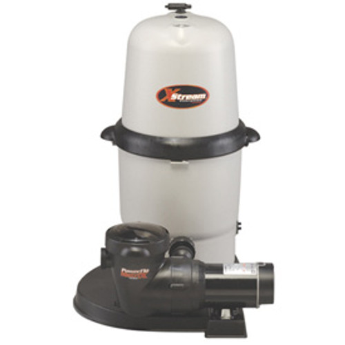 Hayward 150 Sq. Ft. X-Stream Above-Ground Cartridge Filter System 1.5HP Pump with Hoses, W3CC15093S (HAY-05-833)