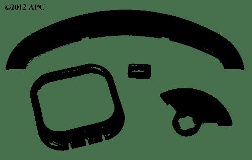 Zodiac Ray-Vac Bumper Flatmouth Kit, R0375500 (JDY-201-2487)
