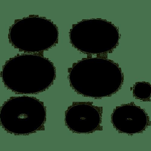 Hayward Soft Rollers, Packof 7 With Bearings), Black, AX6000DBK (HAY-201-6105