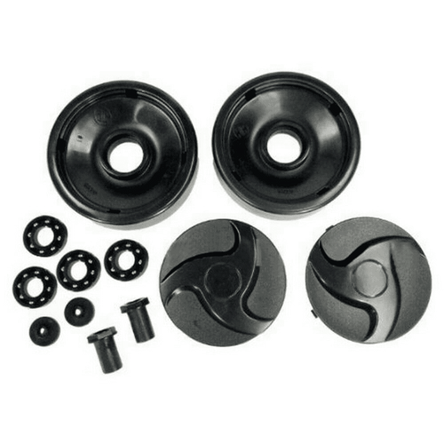 Hayward Rear Wheels with Bearings, Nuts and Hubcaps, Black, AX6009BBK (HAY-201-6119)