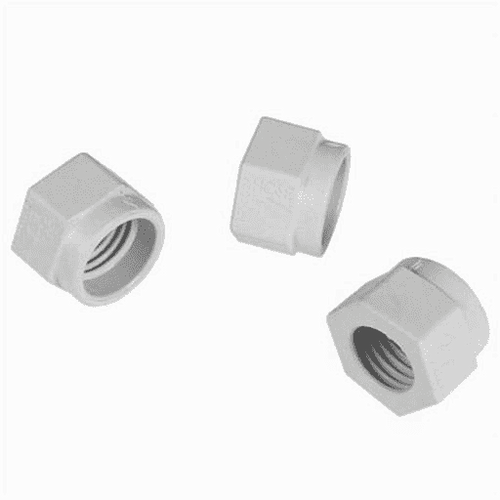 Hayward Mender Nut Kit, White, Set of 3, 610377301428, HAY-201-6128