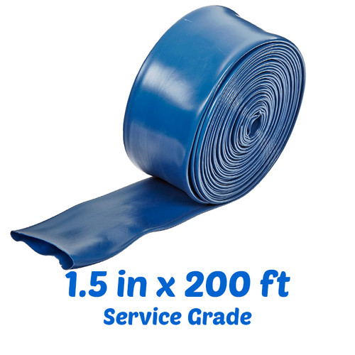 "Super-Pro 1.5"" x 200' Deluxe Service Grade Backwash Hose, 2124WBUSD200 (SPG-40-1112)"