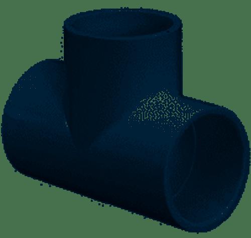 "Lasco 1"" Socket PVC Tee Sched 40 401010BC (LAS-56-4054)"