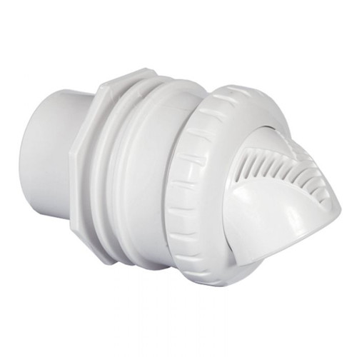 "Infusion Venturi Return Fitting Standard Wall Assembly 1"" Inside 1.5"" Outside, White, VRFSWA"