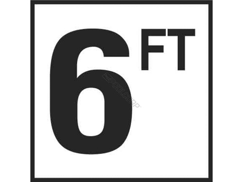 "Inlays Ceramic Smooth 6FT Depth Marker 6""x 6"" Tile, 4"" Letter, C610060 (INL-37-5144)"