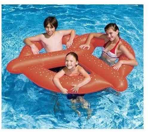 Swimline Giant Pretzel Swim Fun Inflatable Floating Seat 90640 (SWL-90-0640)