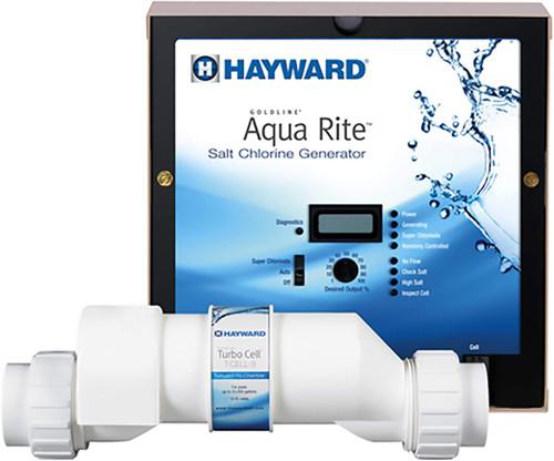 Hayward AquaRite Salt Generator Complete 15,000 Gallons, Power Center and Salt Cell Kit, W3AQR3 (GLD-45-1011)