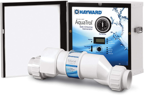 Hayward AquaTrol Above Ground Salt Chlorine Generator, Hose/Pipe Twist Lock, 18K Gallons, W3AQ-TROL-HP-TL (GLD-45-1013)