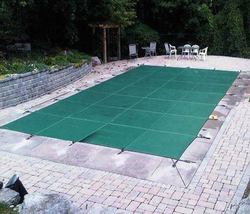 PoolTux Royal Mesh Safety Cover, Rectangle 16' x 32' Green, CSPTGME16320 (PT-IG-000104)