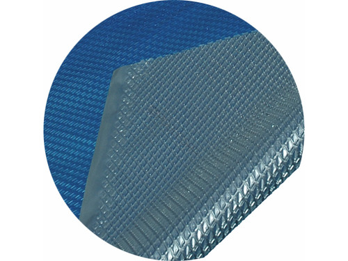 Midwest Canvas Space Age Solar Cover, 12' Round for Above Ground Pool, BLUE/SILVER 12 RD 5YR (SC-BS-000000)