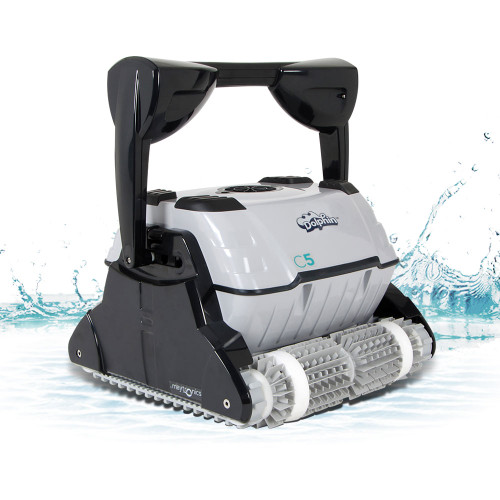 Maytronics Dolphin C5 Robotic Pool Cleaner with Remote & Caddy