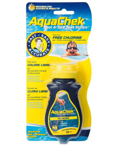 AquaChek Yellow Chlorine 4-In-1 Test Strips 511242A (AQC-45-1002)