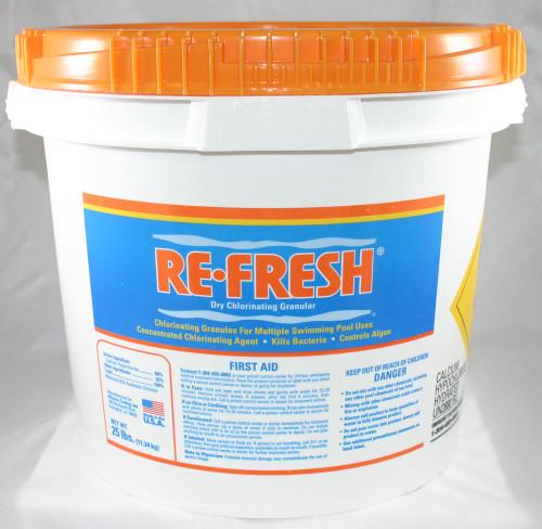 Re-Fresh Dry Chlorinating Granular 25lb Bucket