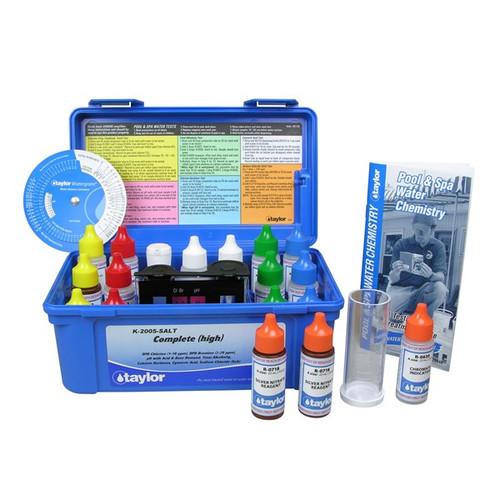 Taylor 2000 Series Complete (.75 oz) Test Kit, Alkalinity, Bromine & Chlorine (high range), Cyanuric Acid, Hardness, Sodium Chloride, pH (K-2005-SALT)