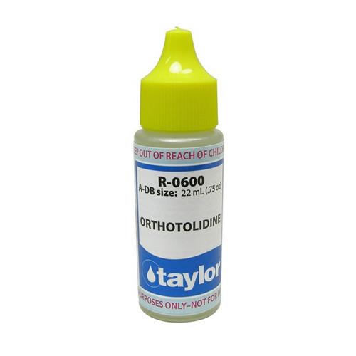 Taylor Orthotolidine Reagent - 3/4 Oz. Dropper Bottle (R-0600-AD-B )